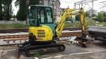Album Minikoparka Yanmar ViO33 - prace budowlane Dworzec PKP Zielona Góra