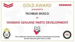Wyróżnienie Gold Award od Yanmar dla firmy Techbud
